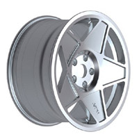"""3SDM 0.05 Wheel, 16"""" 4x100 Silver"""