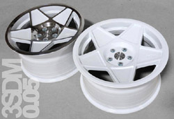 "3SDM 0.05 Wheel, 18"" 5x112 White"