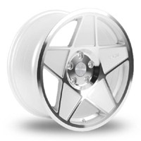 "3SDM 0.05 Wheel, 19"" 5x112 White w/ Polished Face"