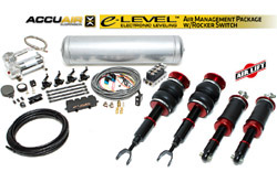 BAG_B5_Quattro_ELevelRockerKIT Air Lift / Accuair e-Level Full Package w/ Rocker Switch, B5 Audi A4/S4 Quattro