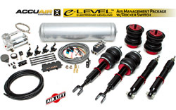 Air Lift / Accuair e-Level Full Package w/ Rocker Switch, B6/B7 Audi A4/S4