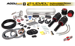 BAG_B8_ELevel_RockerKIT Air Lift / Accuair e-Level Full Package w/ Rocker Switch, B8 Audi A4/S4
