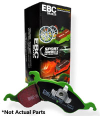 DP2841-2 Front, EBC GreenStuff Sport Brake Pads, Early Mk3 & Corrado VR6