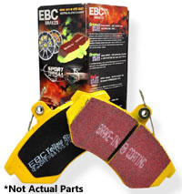 DP4370R Rear, EBC YellowStuff Track Brake Pads, 98-01 Audi A4 Quattro