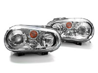 HVWG4HLD-C Helix Mk4 Golf Headlight W/Fog Lamp, Chrome