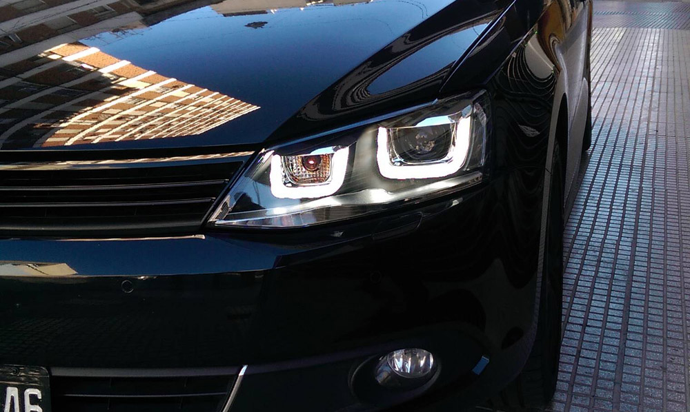 hvwjhl  helix projector headlights led  style mk jetta