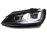 Helix Projector Headlights LED R Style, Mk6 Jetta