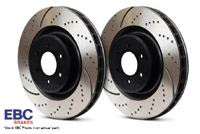 GD1203 Rear EBC Slotted/Dimpled Rotors - Set of 2 Rotors (255x10mm) B6  A4 1.8T/V6