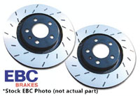 USR931 Rear EBC Ultimax Slotted Rotors - Set of 2 Rotors (256x22mm) Mk4 337/20th/GLi/R32, TT Mk1 3.2L