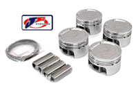 JE-18T-242909 Piston Set by JE - 81MM Bore, 8.5:1 CR, Stock Stroke - 86.4MM - 1.8T 20V