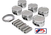 JE-12V-VR6-186236 Piston Set by JE - 83.0mm Bore, 9.0:1 CR, Stock Stroke - 90.2mm - 12v VR6