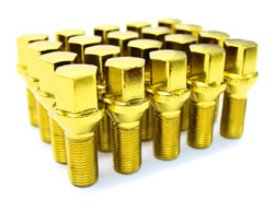 lug_14x1.5_cone_qty20_Yellow Lug Bolt Cone Seat 14x1.5 - (Full set of 20) - Yellow Gold