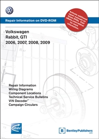 VAG6 Bentley, Mk5 Rabbit/GTi (2006-2009) DVD
