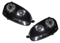 Helix Mk5 E-Code Headlights, Black Background