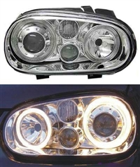 HVWG4HL-AEC-90 Depo Mk4 Golf Angel H/Lamp W/Fog Lamp, Chrome