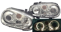 Helix Mk4 Golf Headlight W/Fog Lamp, Chrome