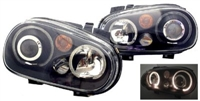 HVWG4HLD-AB Helix Mk4 Golf Headlight W/Fog Lamp, Black