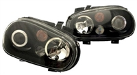 Helix Mk4 Golf Headlight W/Fog Lamp, Black