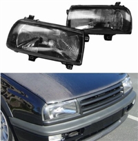 Helix Mk3 Jetta/Vento E-code Headlight Black