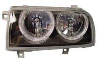 DEPO Mk3 Jetta Powerlook Angel Headlight Black