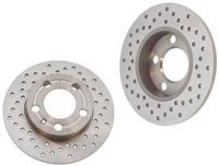 8D0615601A_X_qty2 Rear Rotors (Cross-Drilled), A4 Quattro 97-01