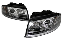 HAUA4B6HL-S5C S5 Style LED Ecode Chrome Projector Headlights,