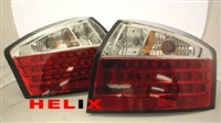 HAUA4B6TL-RCB-LED-10 Tail Lights Clear/Red LED, B6 Audi A4/S4