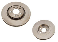 Front, Plain OE Size Rotors - Sold as Pair - (312x25)