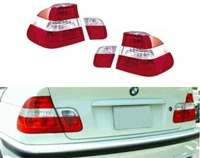 HXBME46TL-4DL-CR BMW E46 4DR SEDAN 2002-2004 Red/Clear/Red