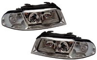 HAUA4B5HL-1C Chrome Ecode Projector Headlights, B5 Audi A4/S4