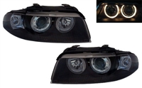 HXAUA4B5HL-AEB Black Ecode Projector Headlights w/Angel Eyes, B5