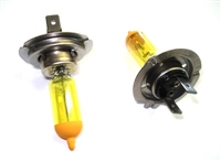 emK H7 Pure Yellow Headlight Bulb Set