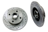 357615601_X_qty2 Rear Cross Drilled Rotors, Mk2/Mk3 4-cyl