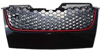 Mk5 GTi/Jetta Honeycomb Badgeless Grill w/Red