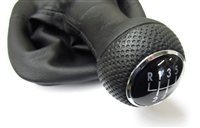 1J0711113FEU Mk4 5-Speed Shift Knob and Boot, Black