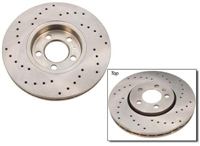 1j0.615.301m Cross drilled rotor, front mk4 2.0L