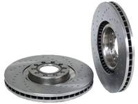 8D0615301KSP_qty2 Front Brake Rotors (Cross-Drilled), B7 A4, B5 S4