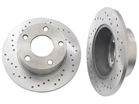 4A0615601A_X_qty2 Rear Rotors (Cross-Drilled), FWD Passat 98-05