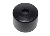 6X0601173B9B9 17mm Head (Black) Wheel Bolt Caps w/Hole - Priced