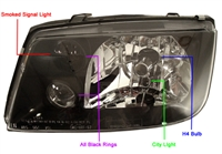 Depo Mk4 Jetta Black Background Light w/ Fog