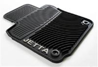 Monster Mat™ Rubber Floor Mats, Jetta logo, Mk5 (round clip)