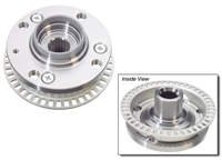 357407613B Wheel Hub Front, 87-99 4-Lug w/ ABS, VW GENUINE
