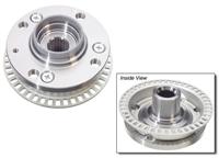 357407613BMY Wheel Hub Front, 87-99 4-Lug w/ ABS