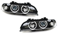 HBE39HL-AEB-90 DEPO BMW E39 Angel Eye Projector Headlights w/