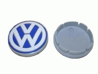 1C060117109Z VW Wheel Center Cap, Blue/White (55mm) - Priced