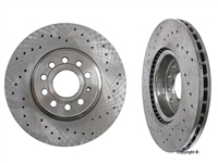 1K0615301AASP_qty2 Front Zimmerman Cross Drilled Rotors, Mk5 2.0T
