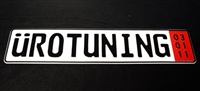 Uro_Plate_Zoll UroTuning European License Plate, Zoll