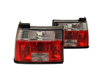 HVWJ2TL-CR MK2 Jetta Crystal Clear/Red Tail Lights