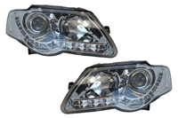 Depo S5 Led Style Chrome Headlights, B6 Passat