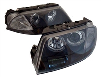 HVWP55HL-B Black ECode Projector Headlights with Angel Eyes,